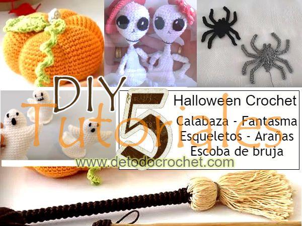 5 amigurumis halloween para decorar tejidos a crochet DIY | Crochet ...