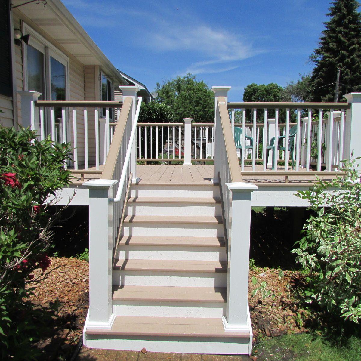 TimberTech Deck with White Railing | Deck, Timbertech