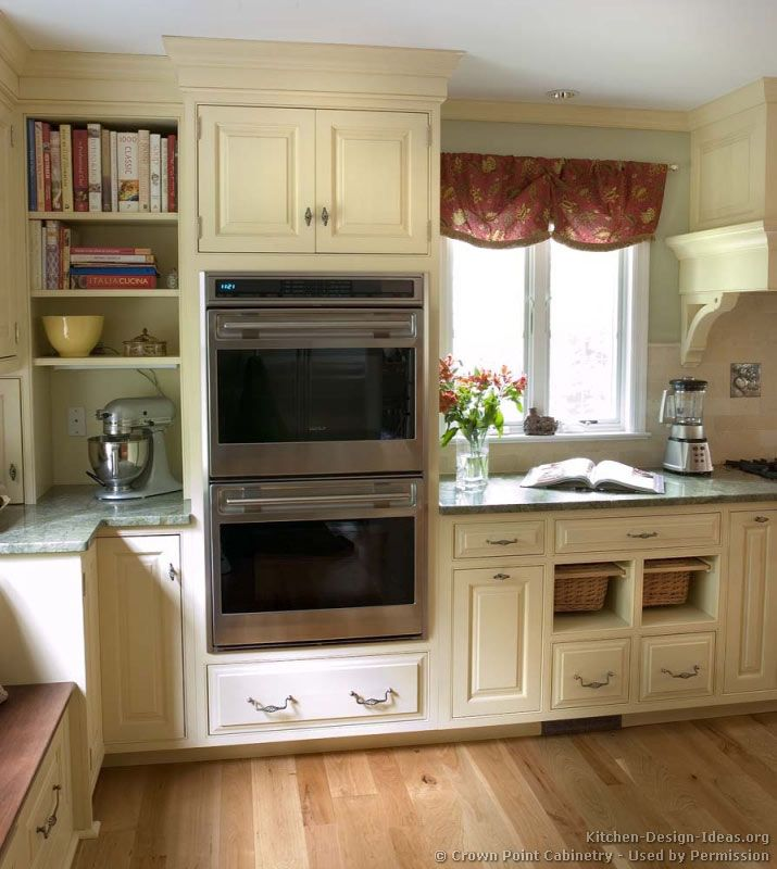 Antique White Kitchen Cabinets Design: #Kitchen Idea Of The Day: Traditional Antique White