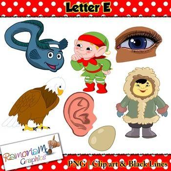 Letter E Clip Art  Outlines Clip Art And Art Lessons