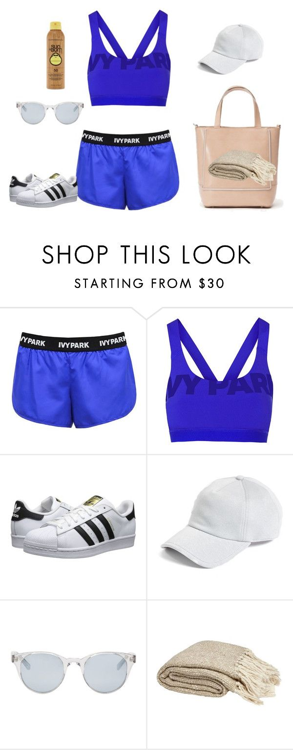 """""""Beach set"""" by polandieu ❤ liked on Polyvore featuring Ivy Park, Topshop, adidas Originals, rag & bone, Sun Buddies and Forever 21"""