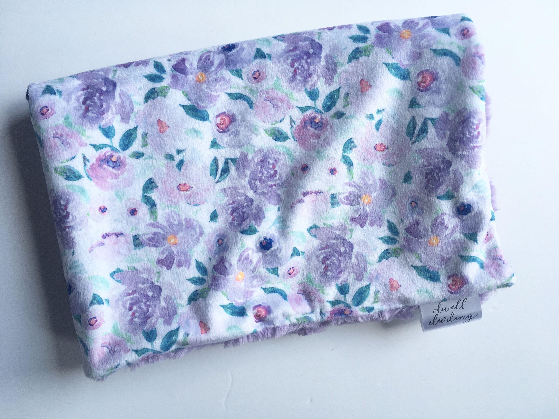 florals mermaid nursery coral modern shower gift double minky Mermaid Minky Baby Blanket- coral mint mermaid scales