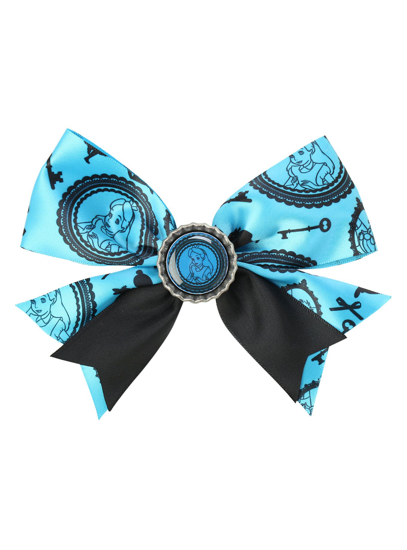 Disney Alice In Wonderland Blue Hair Bow Hot Topic