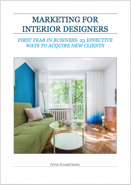 Marketing strategies for interior design firms small for Design strategy firms