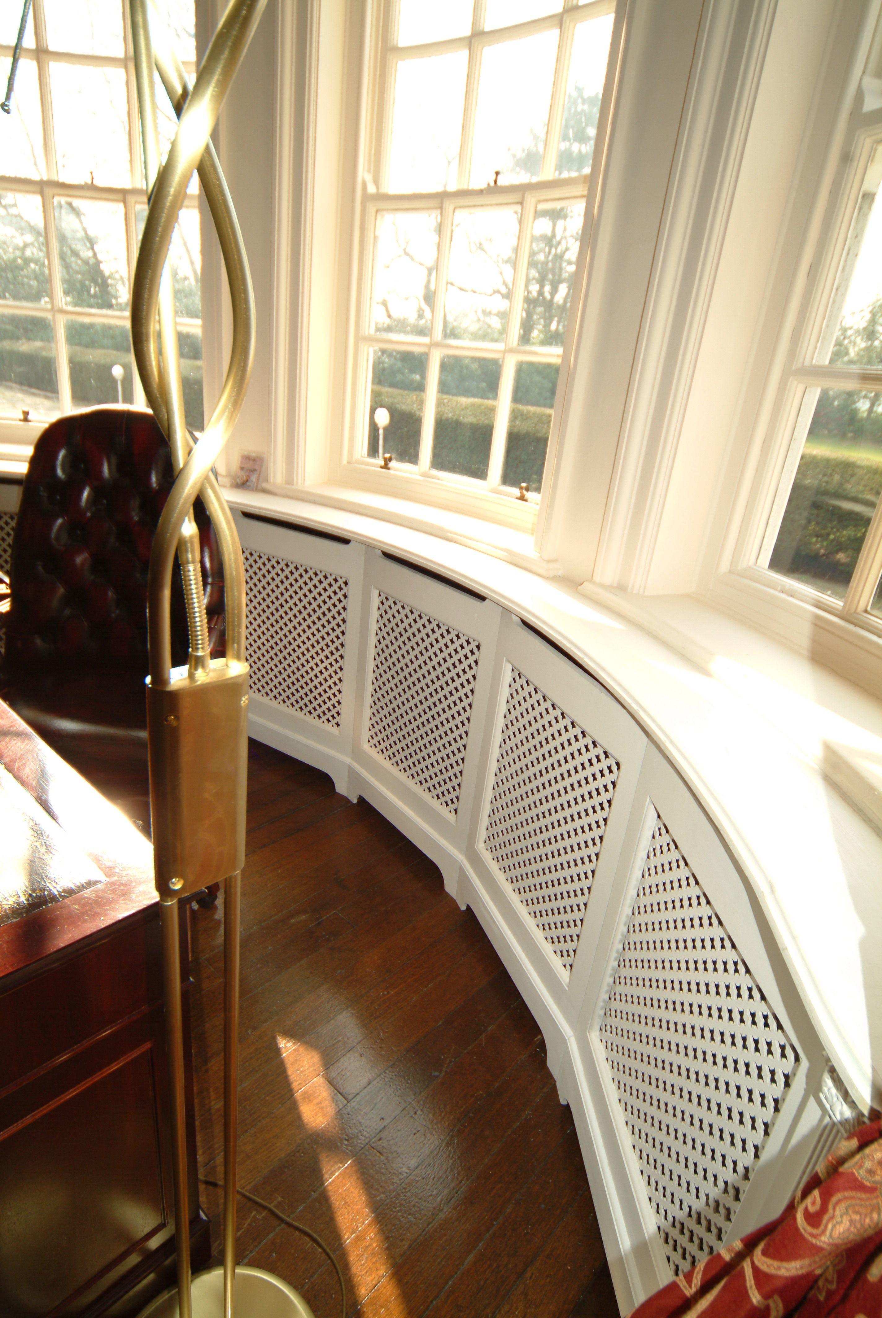 Made To Order Curved Radiator Cabinet For Bay Windows ))X