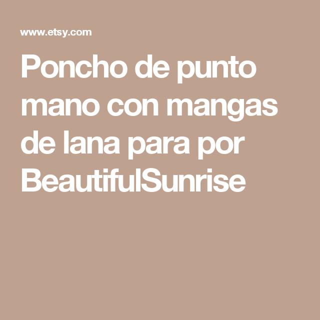 Poncho de punto mano con mangas de lana para por BeautifulSunrise