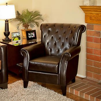 Merveilleux Springfield Bonded Leather Club Chair