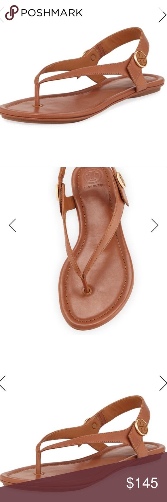 b512000b299a Tory Burch Minnie travel leather sandals Sz 10 NWT Tory Burch Minnie travel  leather sandals royal