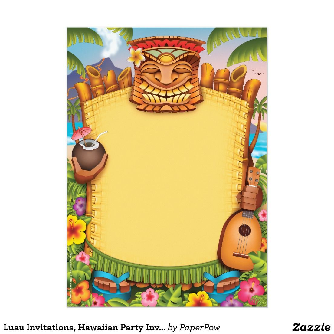 Luau party invitations and get ideas how to make your party ...