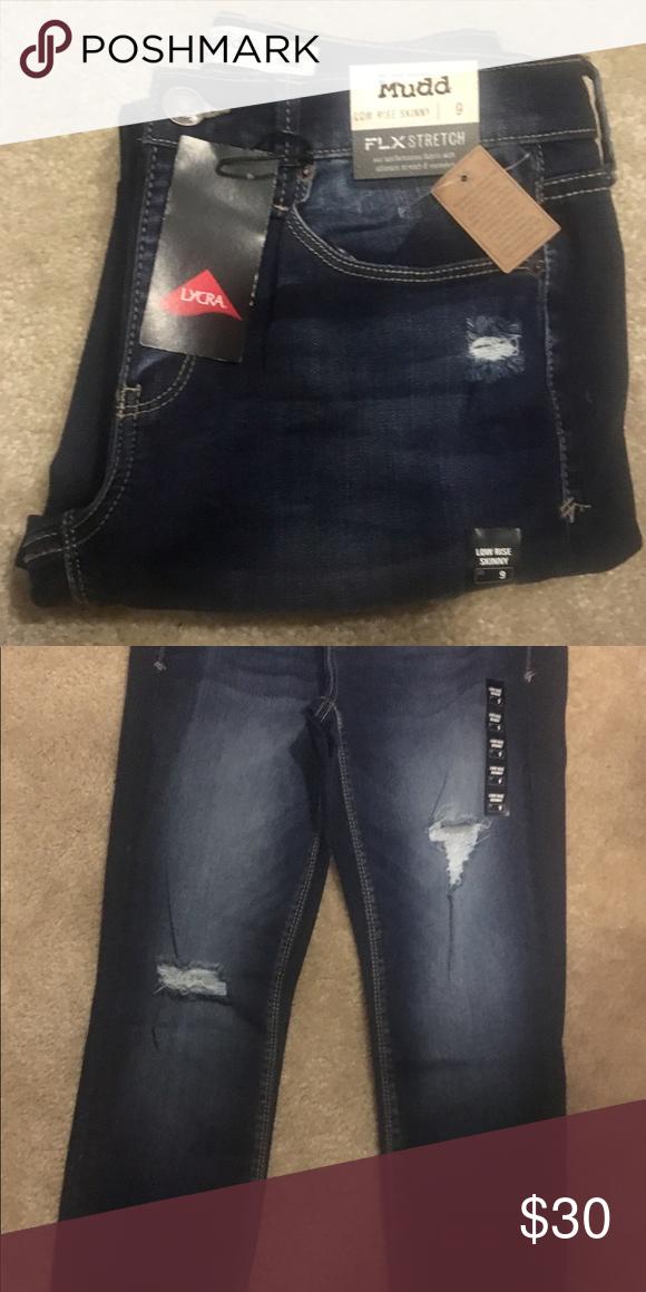 bd08f6824d2 Mud FLX Stretch Dark Jean Mudd FLX Stretch low rise skinny jean in dark  wash. Mudd Jeans Skinny