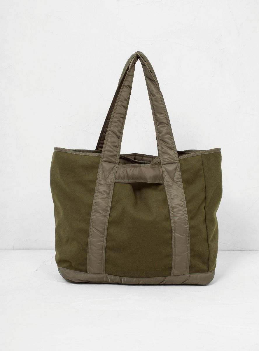 f1775aa66 A picture of MA1 Fleece and Nylon Tote | Overflow (greens) in 2019 ...