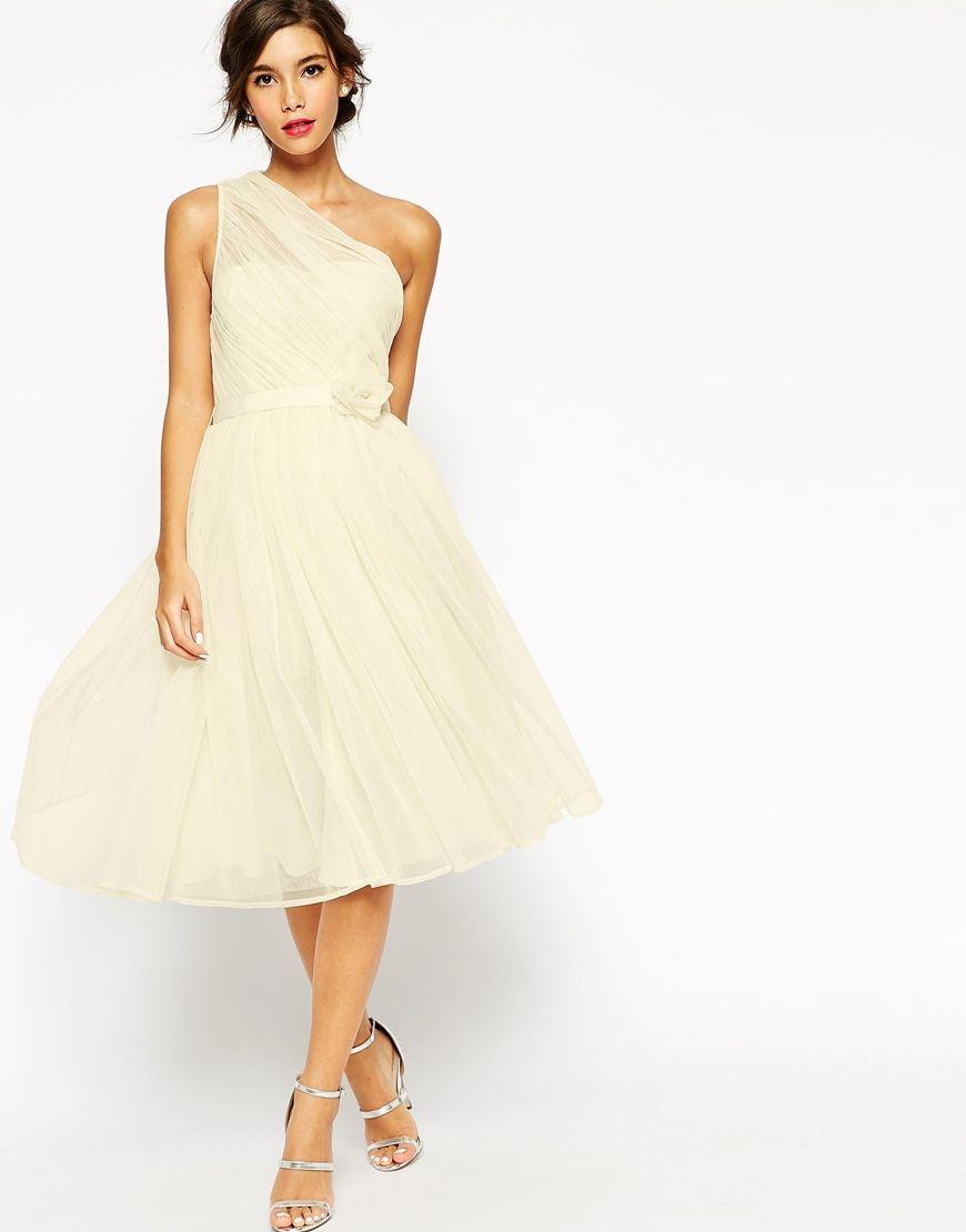 WEDDING – One Shoulder-Corsagenkleid aus Netzstoff | Corsagenkleid ...