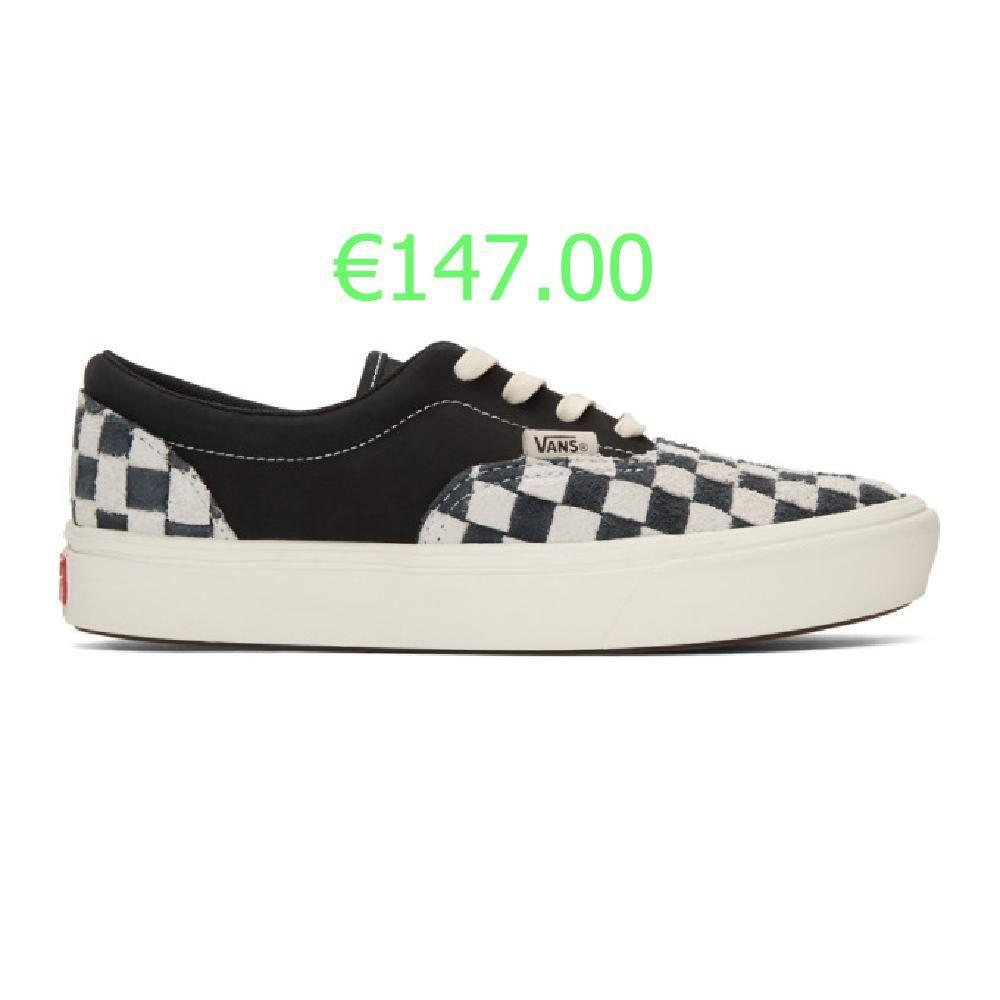 Vans Baskets noires et blanches Checkerboard ComfyCush Era | Vans ...
