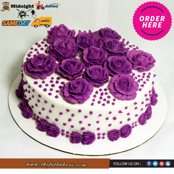 Buy This Special Flower Cakes Online The Fat Bakers Offers Midnight