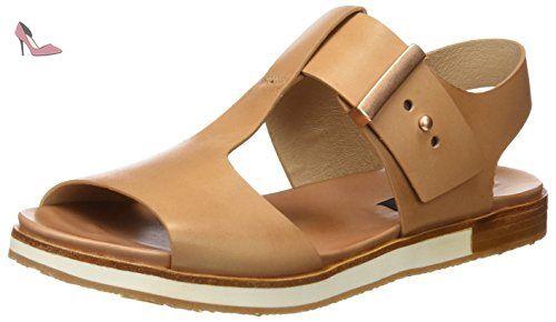 Neosens S504 Restored Skin Cortese, T-Strap Sandals Femme, Noir (Ebony), 38 EU