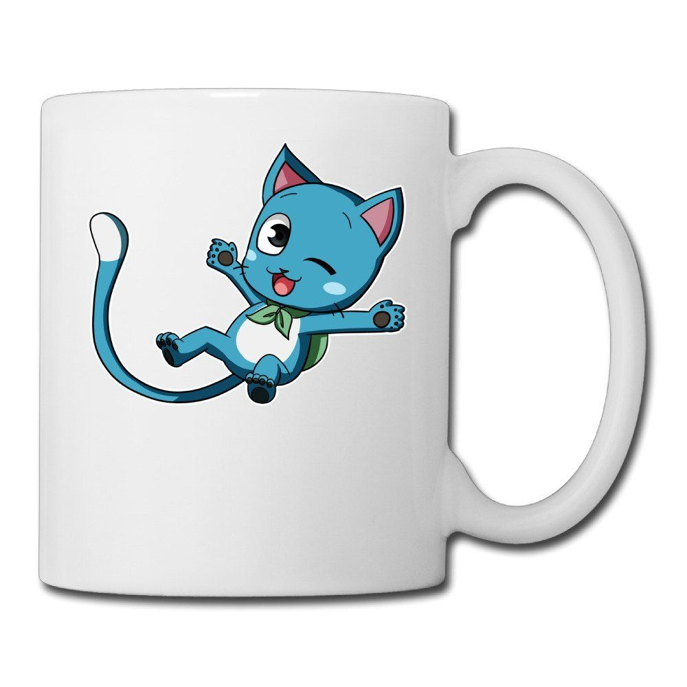 Ceramic cups anime blue cat happy fairy tail picture