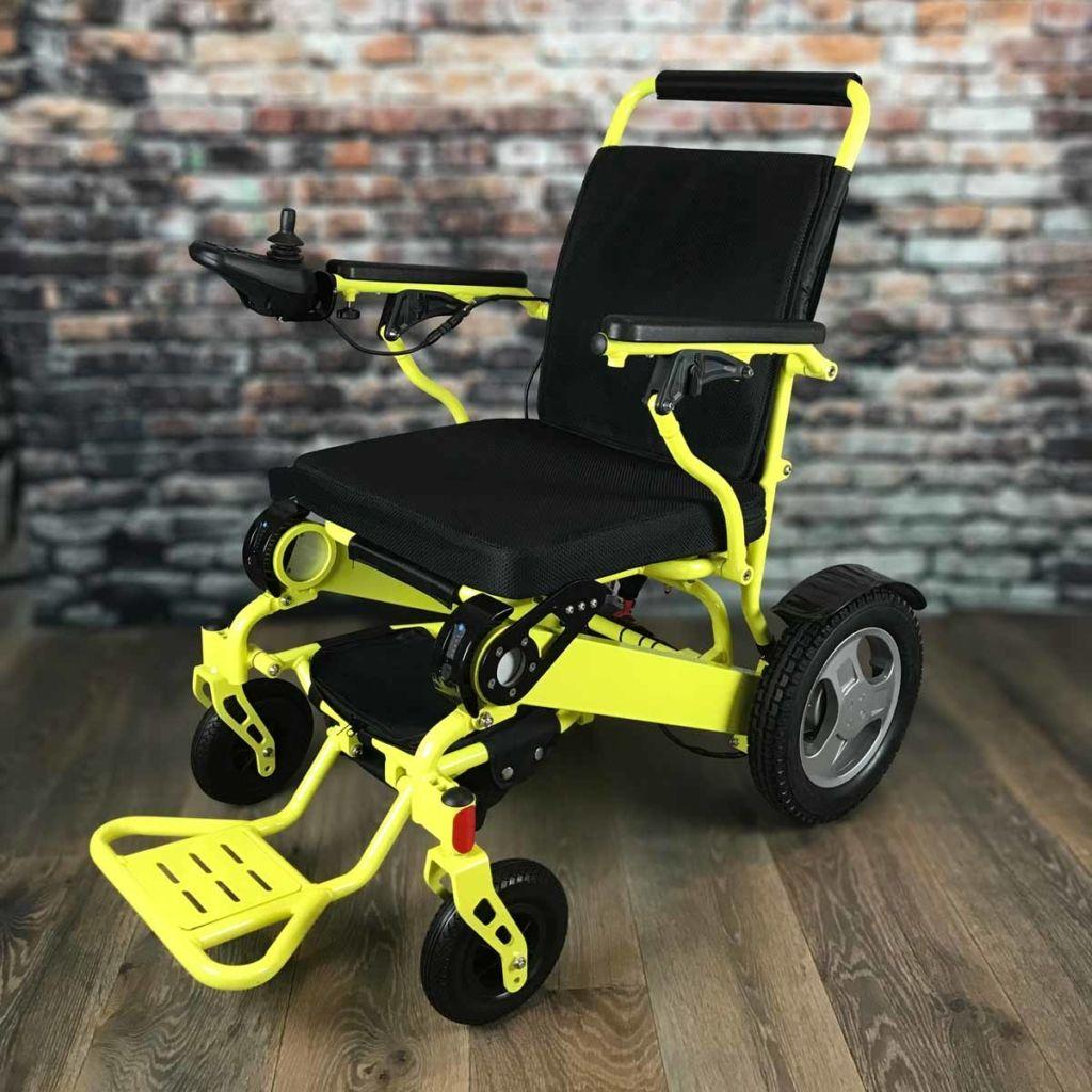 Heavyduty fold go electric wheelchair purple