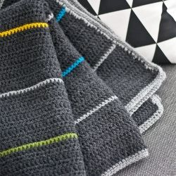 Crochet Afghan Patterns For Guys : Love the color combo-Handmade cozy blanket with nordic ...