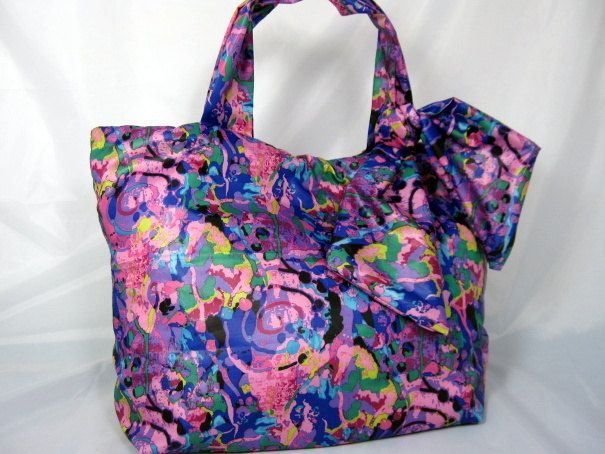 Project Runway April Johnston Fabric Tote Bag...free shipping in US. $75.00, via Etsy.