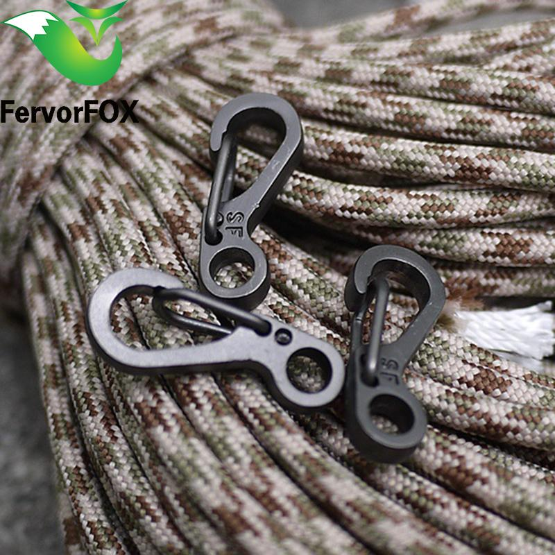 SZHOWORLD 10PCS//LOT Mini SF Spring Backpack Clasps Climbing Carabiners EDC Keychain Camping Bottle Paracord Hooks