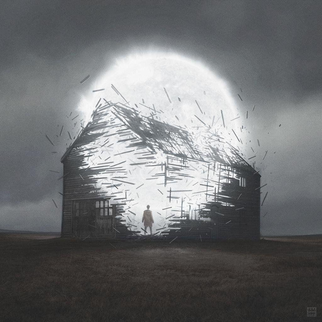 """""""ユーリ・シュウェドフ(1991〜)による作品。ロシアのイラストレーター。黙示録後の世界を描き続けています。"""""""