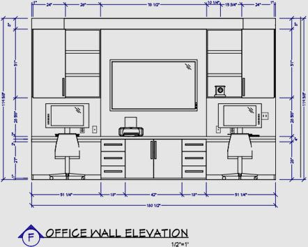Office Wall Elevation Interior Design Software Interior Design Office Walls