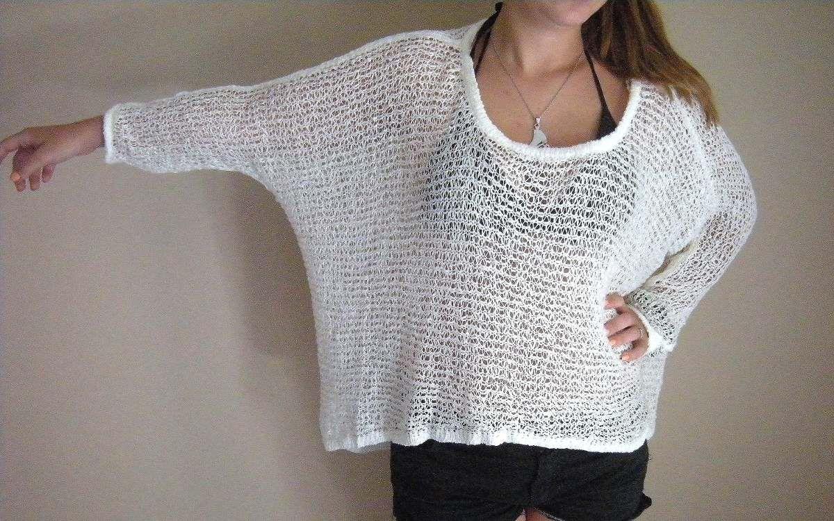 Sweter De Hilo Tejido - $ 220,00 en MercadoLibre