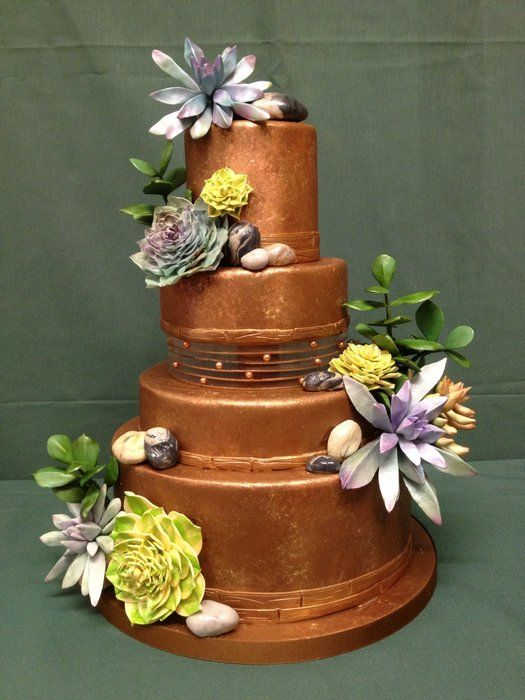 Chocolate Wedding Cake With Succulents And Stones Made In Marina Sousa S Class Wedding Cakes Des Chocolate Wedding Cake Fondant Wedding Cakes Succulent Cake