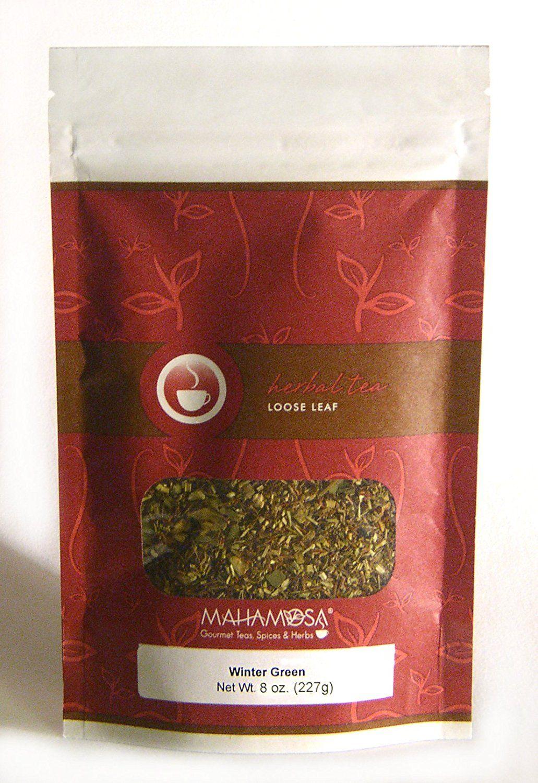 Blend gourmet herbal tea - Mahamosa Winter Green 8 Oz Rooibos Herbal Tea Blend Loose Leaf Looseleaf With Orange Ginger Mint Green Rooibos Eucalyptus Want To Know More
