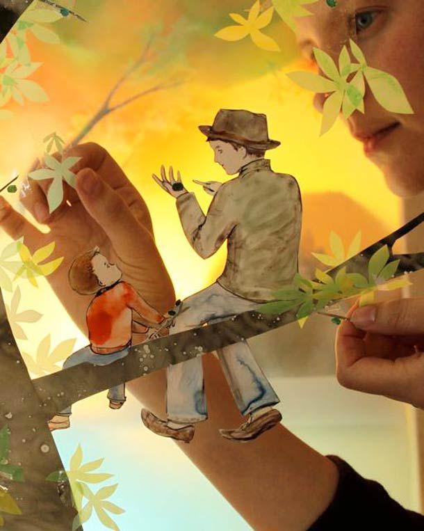 Les créations de la canadienneElly MacKay, akaTheater Clouds, qui mélange avec talent illustration, papercraft et photographie dans des compositions poét