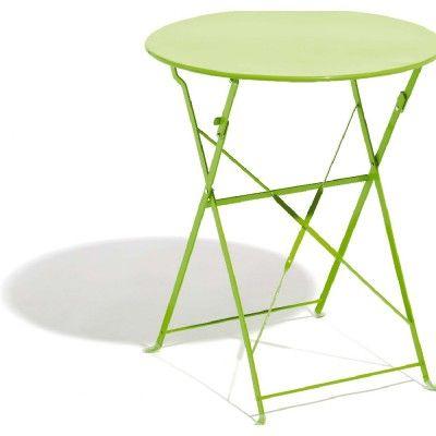 Table De Jardin Metal Ronde. Simple Table De Jardin Ronde Blanche ...