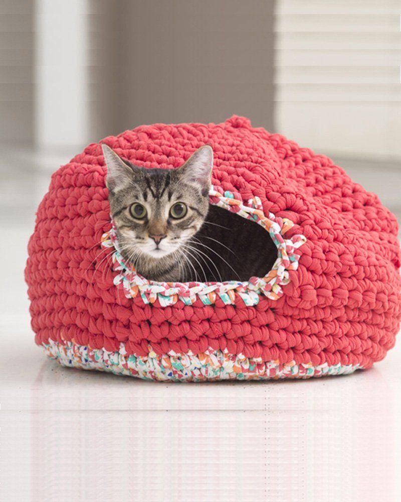 panier chat en laine
