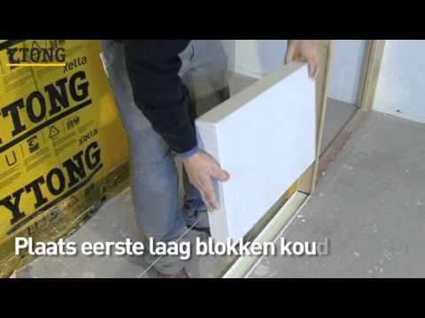 k che selber bauen bauanleitung ytong porenbeton steine youtube k chen pinterest k che. Black Bedroom Furniture Sets. Home Design Ideas