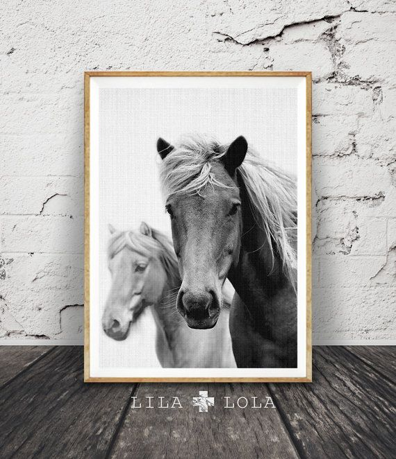 Horse print large printable wall art black and white photography wall decor digital download horse decor large horse poster print