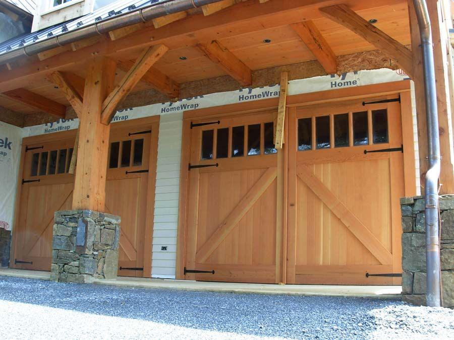 Reclaimed douglas fir doors with antique glass  Craftsman