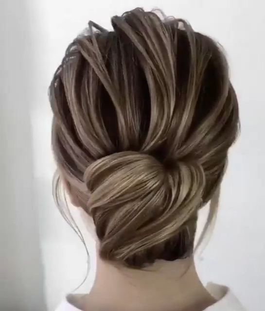 Formal Astonishing Hair Bun Short Video Tutorial