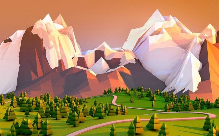Artwork Landscape Minimalism Low Poly Mountain Hd Wallpaper Desktop Background Desktop Wallpaper Art Landscape Wallpaper Desktop Wallpaper