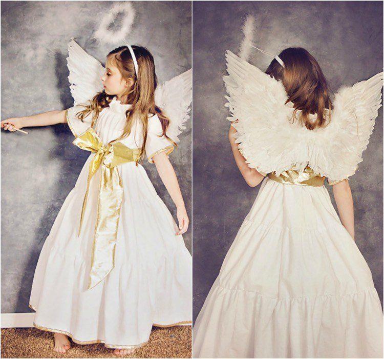 f3c137135773e costume d ange à faire soi-même pour déguiser sa fillette pour Halloween