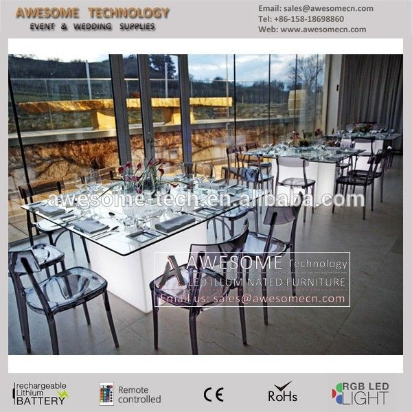8 seater led banquet table for wedding, View used banquet tables, AWESOME Product Details from Shenzhen Awesome Technology Co., Ltd. on Alibaba.com
