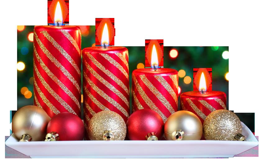 Adornos con velas y bolas para navidad con fondo for Adornos navidenos con copas y velas