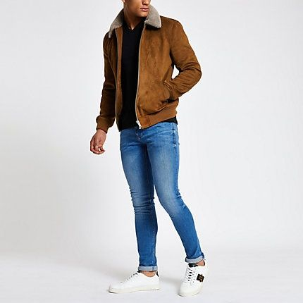 *BRAND NEW**17 Smalls /& 3 Mediums remaining* Topman Suede Style Wool Lined Coat