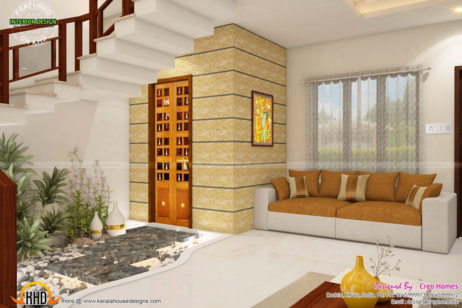 small living hall with pooja room - Google Search | pooja room ...