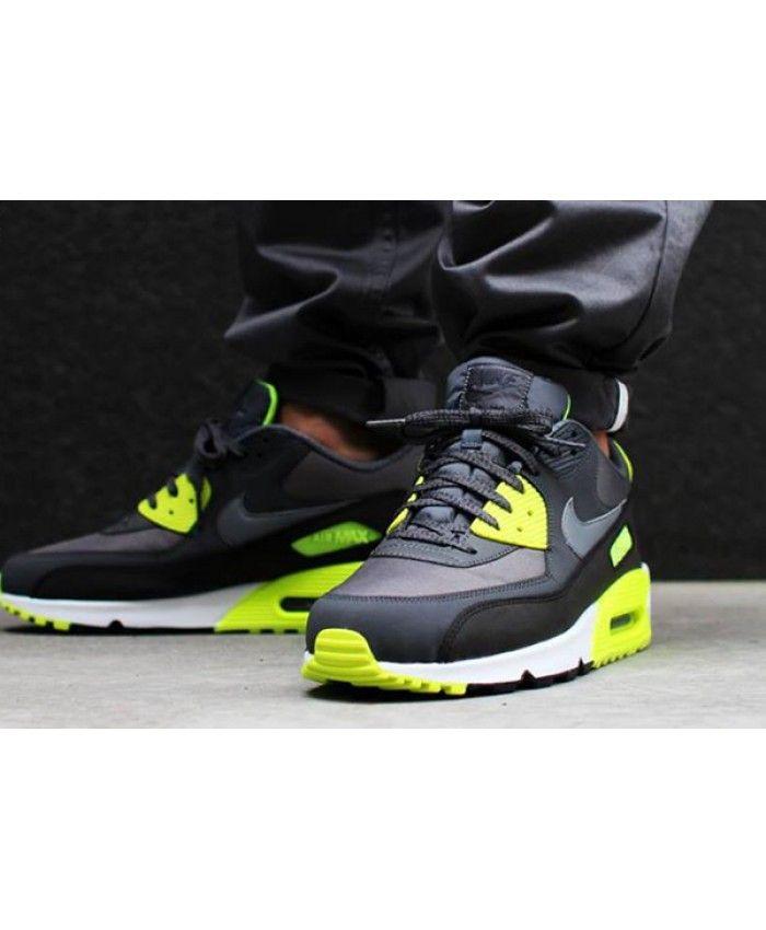 Nike Air Max 90 Essential Dark Grey Cool Grey Volt Deals With