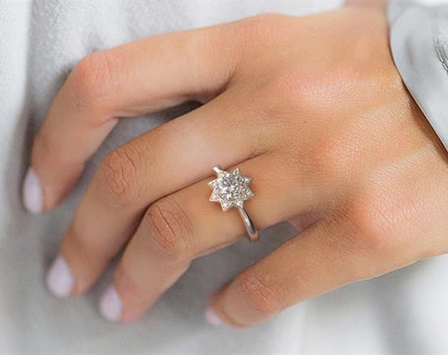 Shining Star Engagement Ring 14k White Gold James Allen
