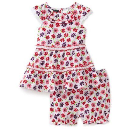 So La Vita Baby-girls Infant 2 Piece Double Ruffle Skirt $17.99