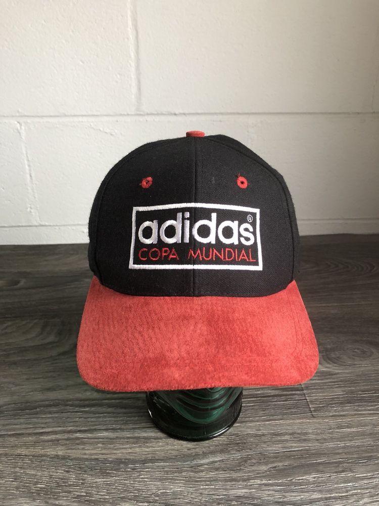 22bd54c5759 Adidas Copa Mundial Snapback Hat VTG Suede Bill Soccer Football Sports Cap   Adidas