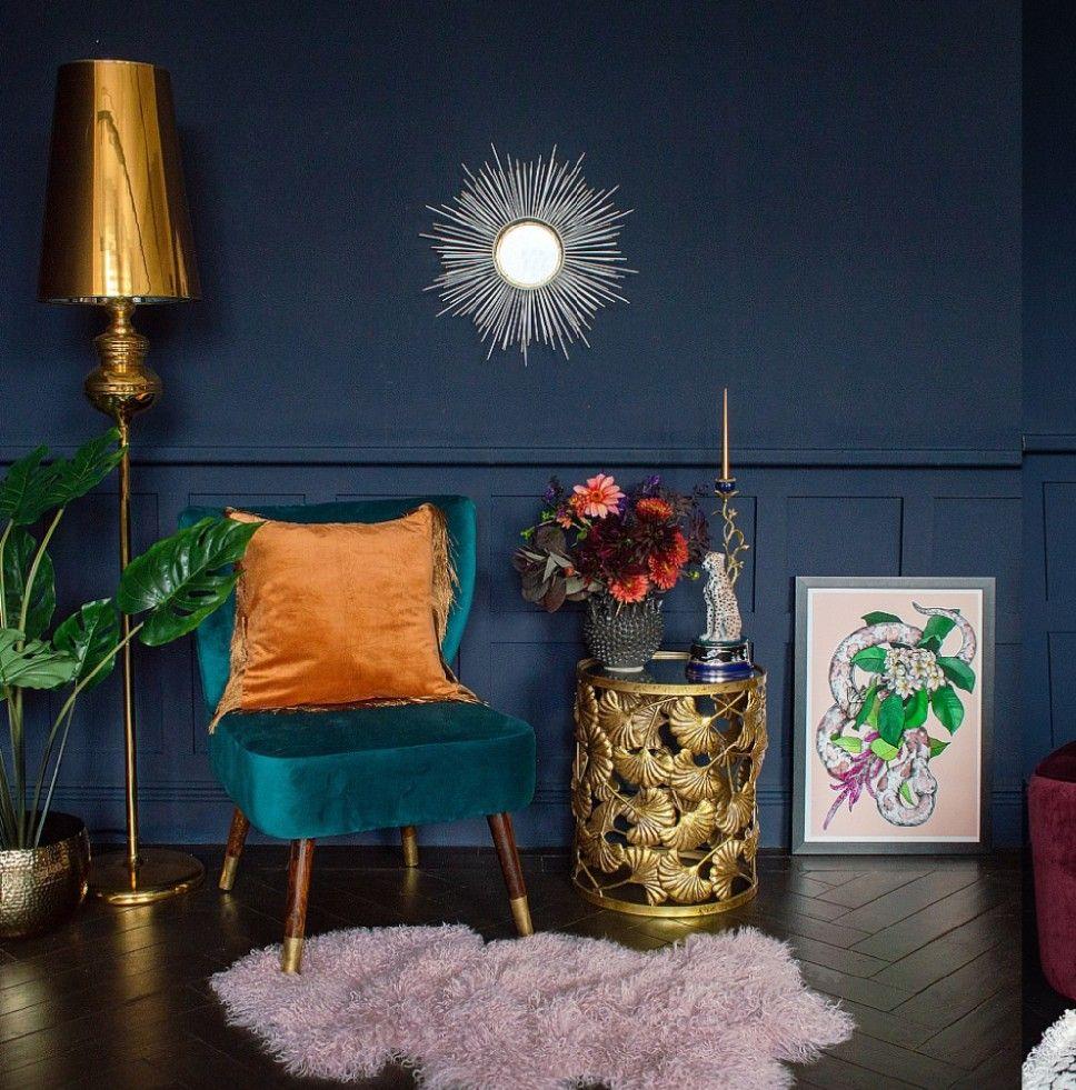 Teel And Burnt Orange Interior Inspiration