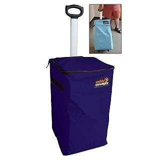 Caddy Concepts Portable Hamper With Wheels Navy By Caddy Concepts