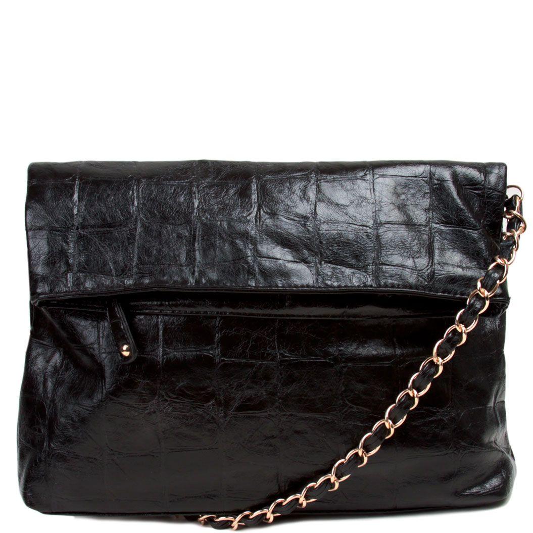 Faux Croc Clutch Shoulder Bag by Street Level $33.96