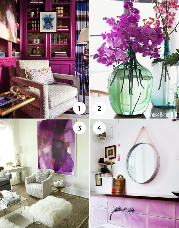 Radiant Orchid Pantone Color Of The Year Home Decorating Accessories
